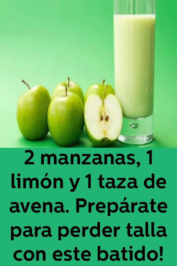 licuado avena manzana limon