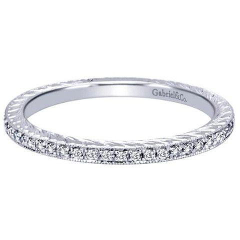 "Gabriel ""Myra"" Classic Diamond Prong Set Engraved Ring · LR4793W44JJ · Ben Garelick Jewelers"