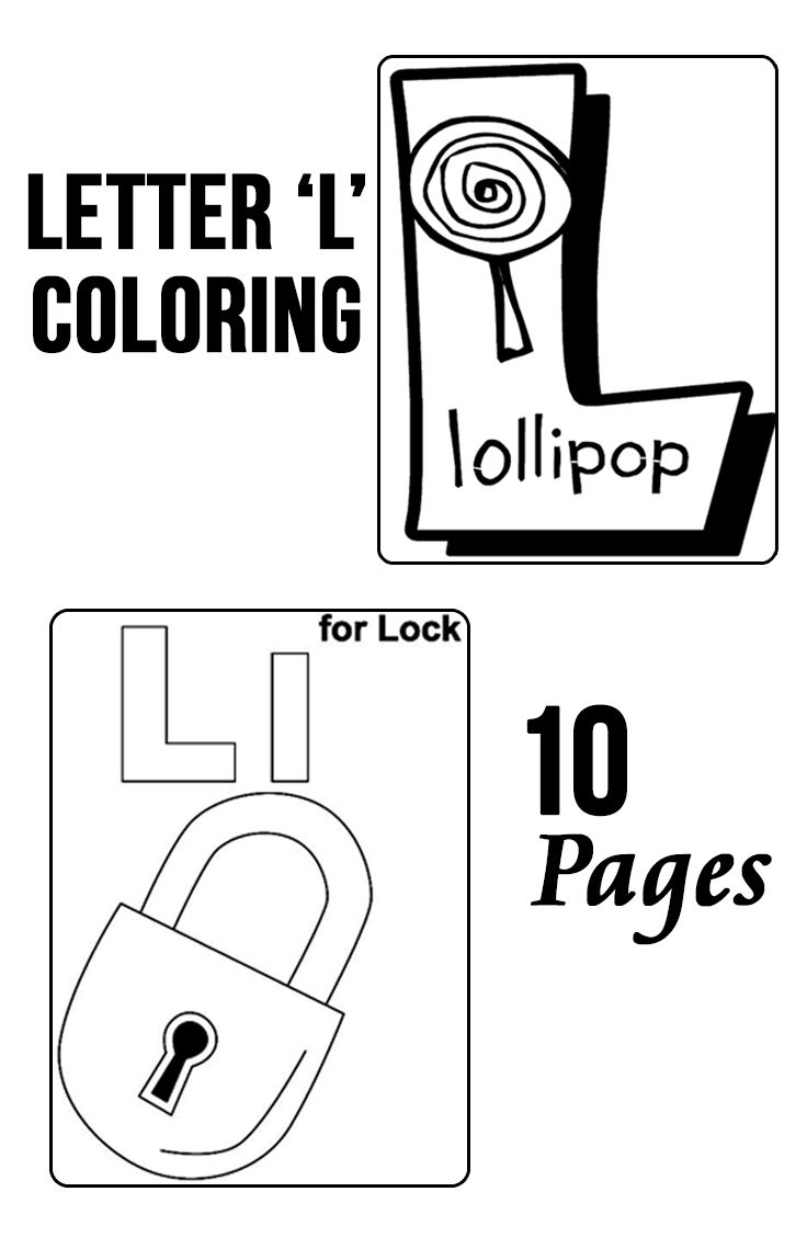 Top 10 Free Printable Letter L Coloring Pages Online | Coloring ...
