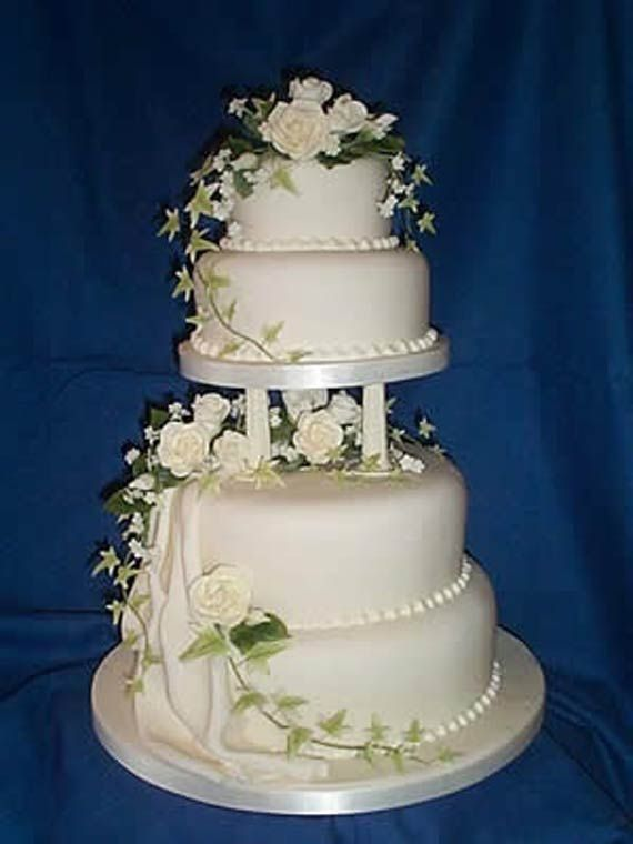 Simple Wedding Cakes Decorating Ideas Feauting Floral Simple