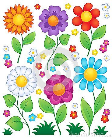Cartoon flowers collection 3