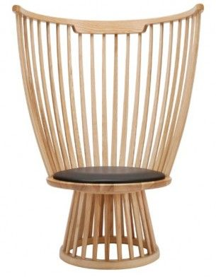 Chaise Fan Chair En Frne Massif Cintr Tom Dixon