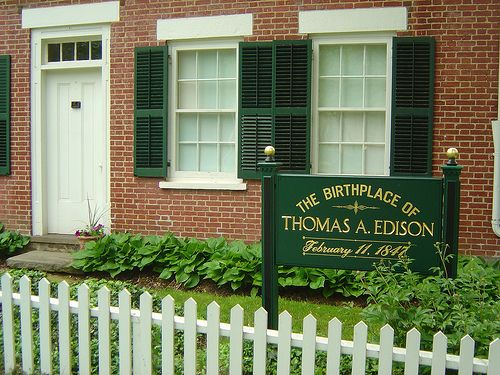 Thomas Edison Was Born In Milan Ohio On Feb 11 1847 His Father Was A Jack Of All Trades And His Mother Was A Form Ohio Travel Travel Fun The Buckeye State