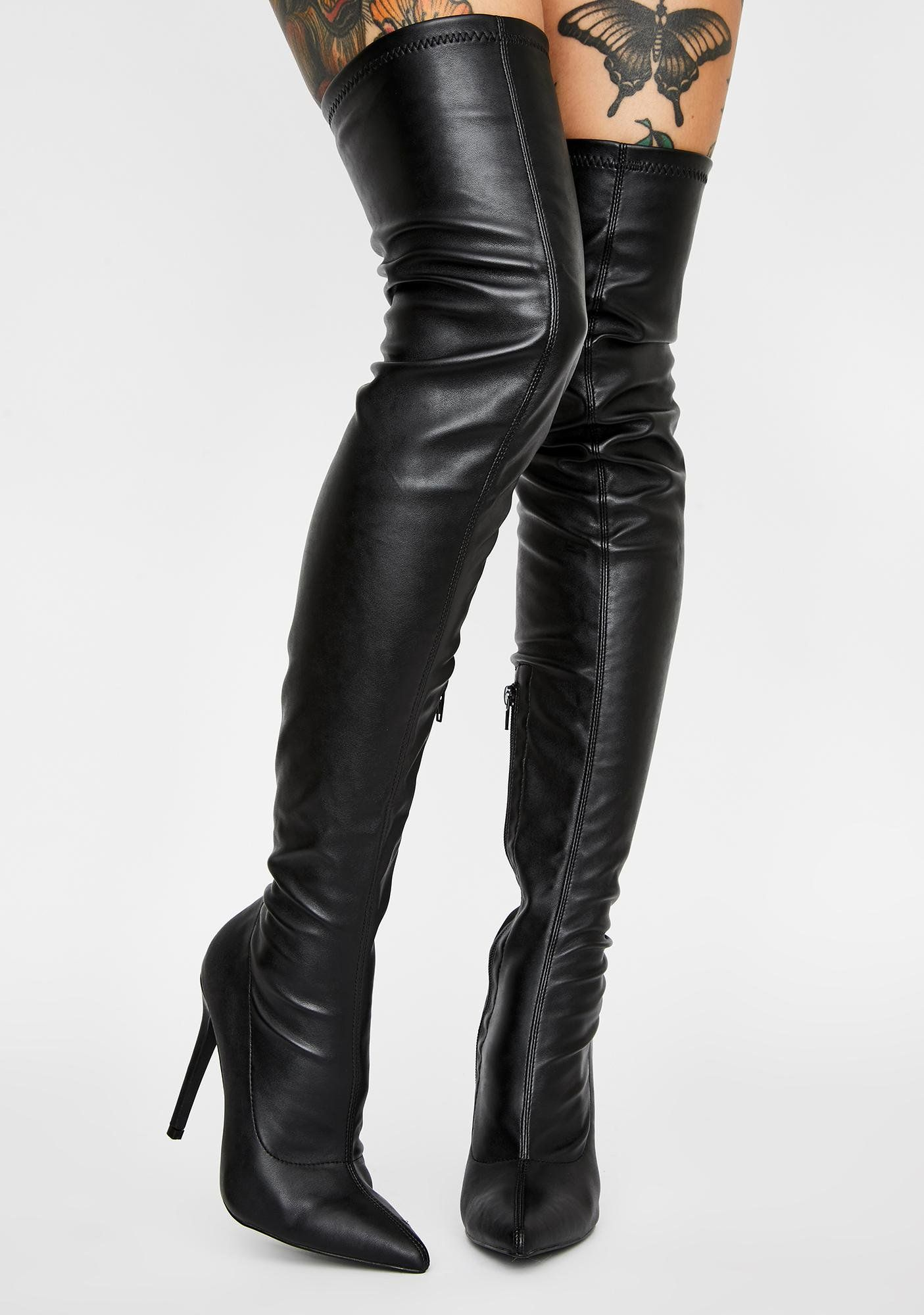 Night Draw The Line Thigh High Boots Thigh high boots
