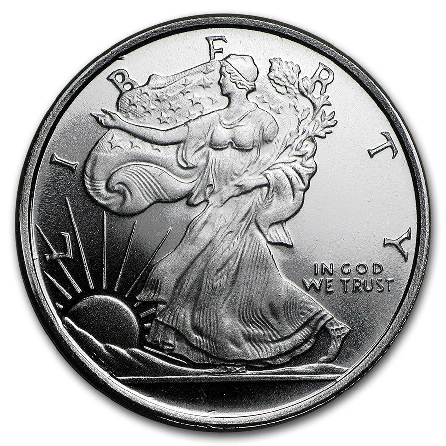 1 2 Oz Silver Round Walking Liberty Silver Rounds Silver Coins Silver Bullion