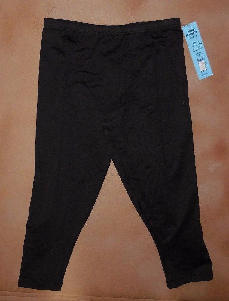 NWT Body Wrappers Black Mens Danseur pants M195 Praise Ballet Nylon Lycra CAPRI