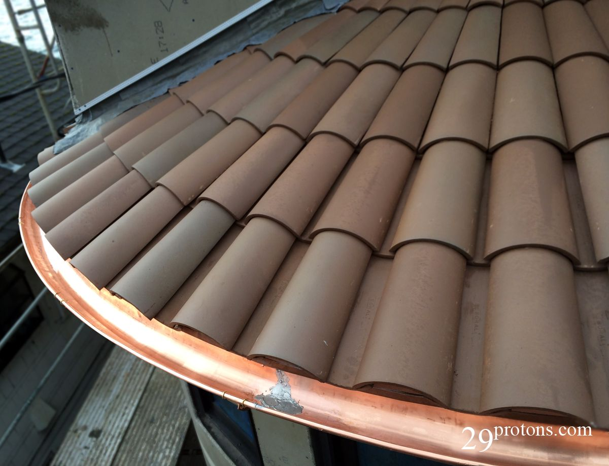Curved Copper Half Round Gutter Copper Gutters Tiny House Village Roof Tiles