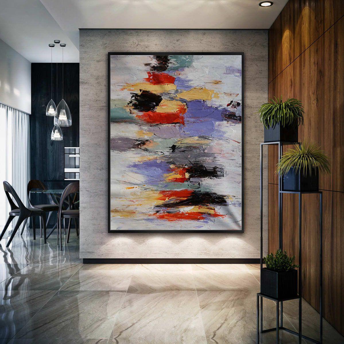 Extra Large Palette Knife Acrylic Painting On Canvas Oversize