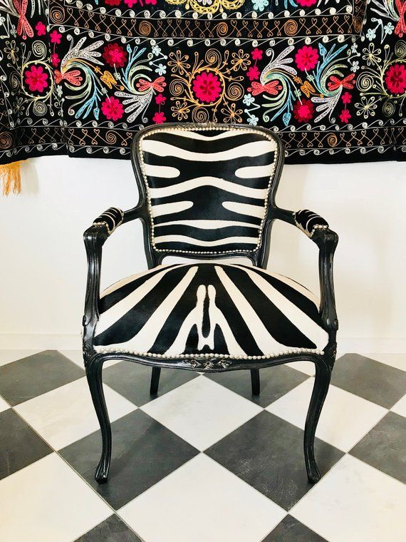 Zebra Print Cowhide French Chair French chairs, Cheap