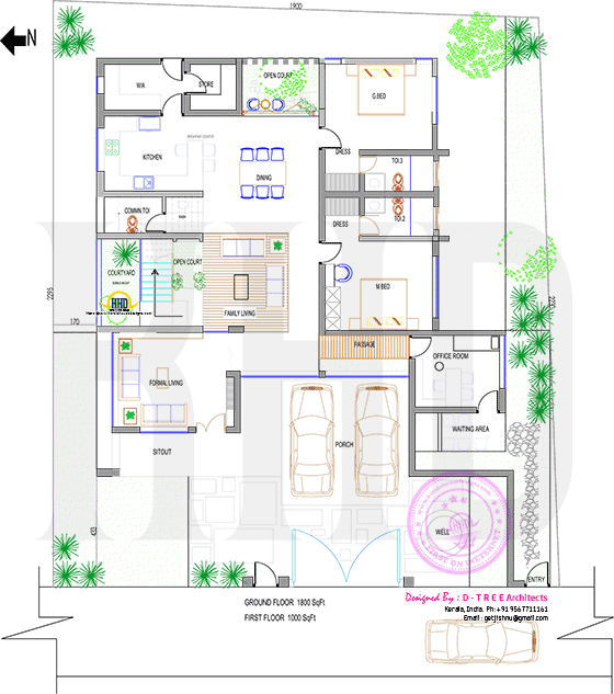 Traditional House With Modern Elements Model House Plan Indian House Plans 2bhk House Plan