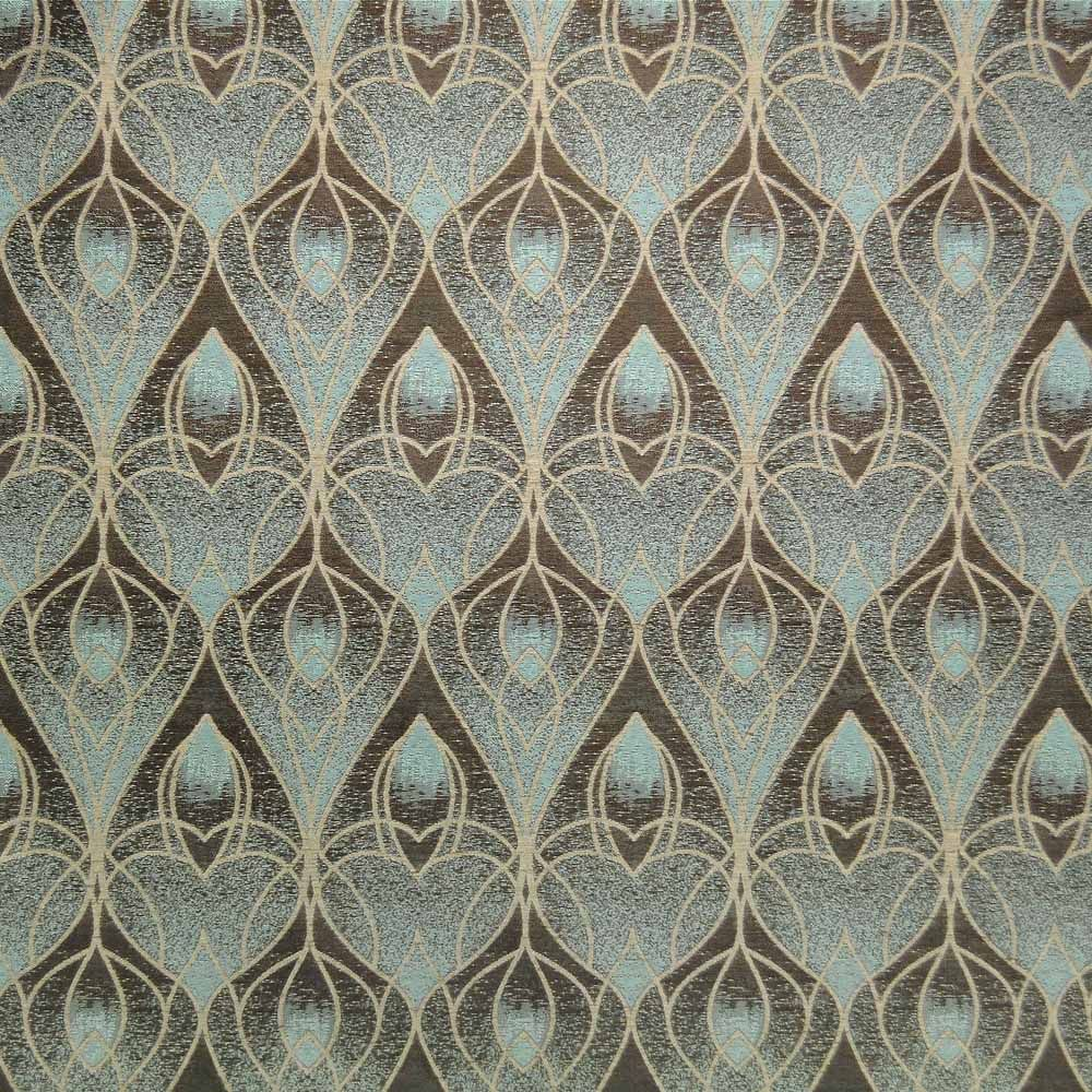 Art deco art nouveau curtain and upholstery fabric art for Art deco style fabric