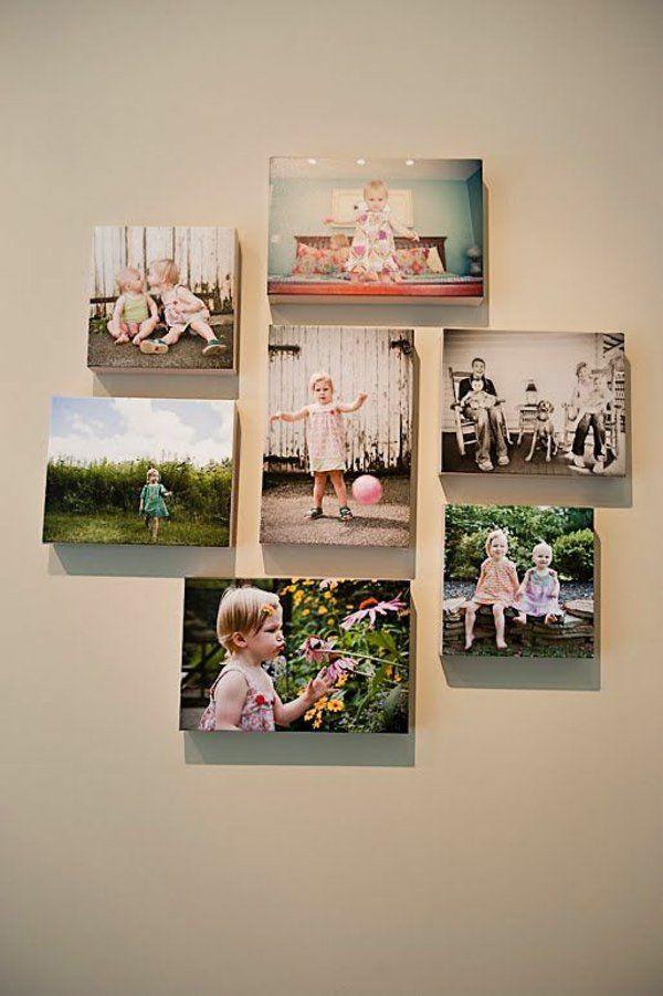 wonderful einfache dekoration und mobel die eigene fotocollage auf leinwand #1: 100 Fotocollagen erstellen - Fotos auf Leinwand selber machen