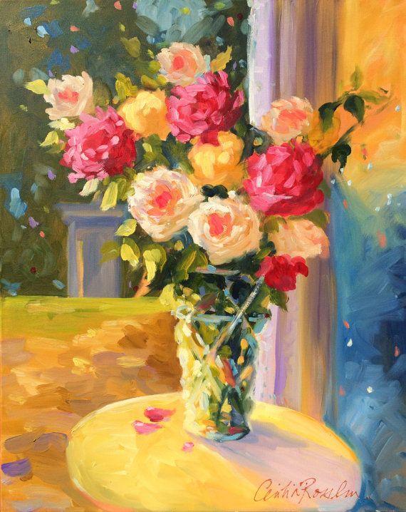SPILHAUSE ROSES by Cecelia Rosslee Art Pinterest Peinture - Comment Peindre Du Papier Peint