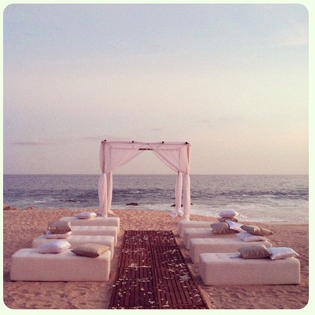 Nice Thinking Of Having A Small Intimate Wedding At The Beach? Consider Cushions  Or Foam Benches