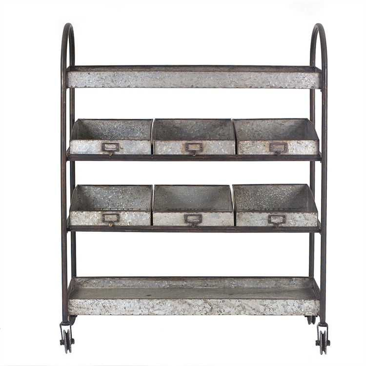 This cart would be perfect for a patio bar cart or as a plant holder with all sorts of goodies in it!