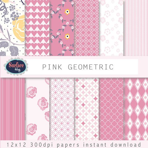 $4.80 Digital Paper PINK GEOMETRIC patterns for instant by SurfaceHug, $4.80 #Digital paper #instant download #wedding invites These papers will be useful in creative projects such as Cards, Invites, Wedding Invites, backgrounds, Childrens parties, scrap booking, any creative project. Instant download to your Etsy email address.