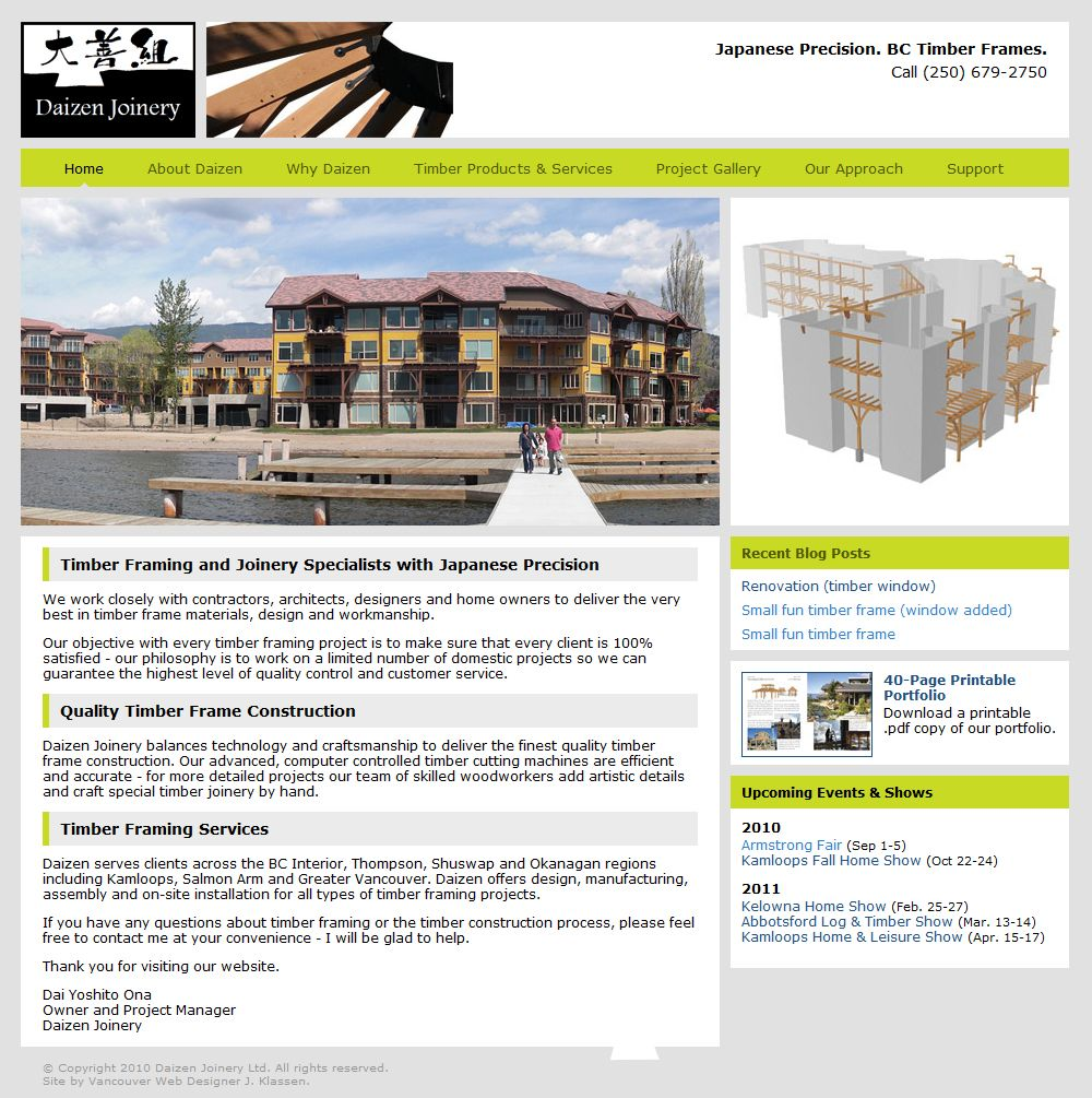 Daizen Joinery S Website Got A Much Deserved Redesign With A