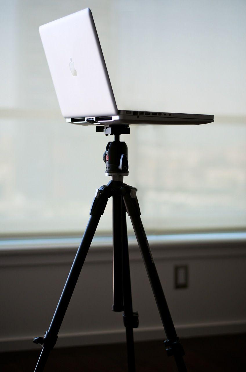 MacBookPro on tripod. Interesting.