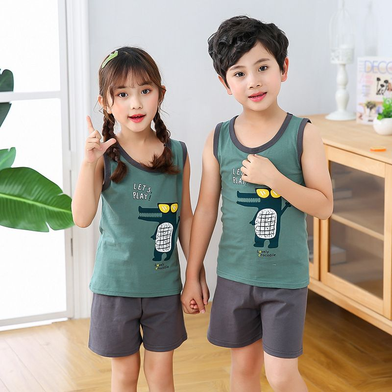 أطقم بيجامات صيفية Toddler Pajamas Kids Sleepwear Unisex Pajamas