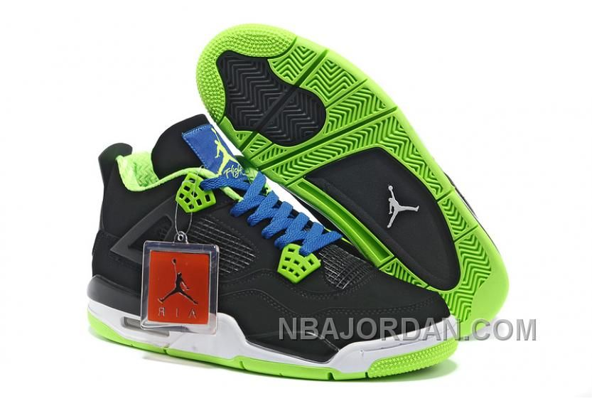 28416ad0ffdb Air Jordan 4 New Colorway Black White Green Blue Suede Authentic in ...