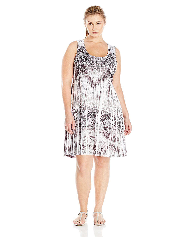 OneWorld Women\'s Plus-Size Sleeveless Micro Jersey Flip-Flop ...