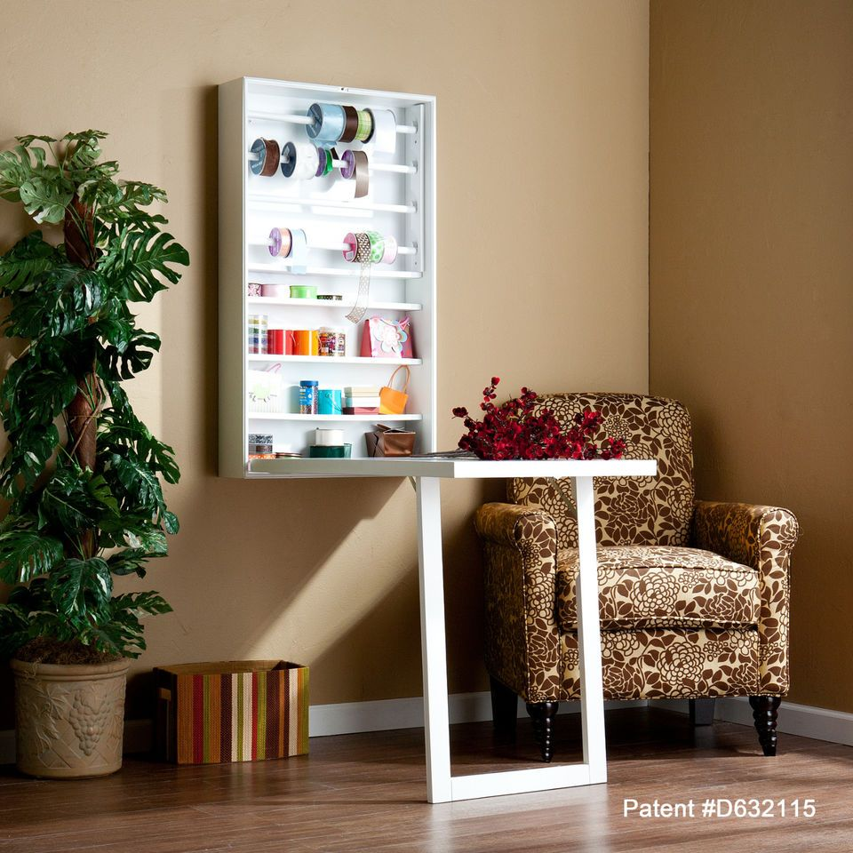Fold up craft table - Love This Fold Up Craft Table With Ribbon Storage