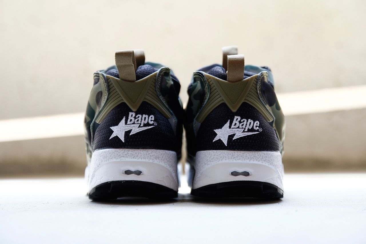 "2e9eb9f72f02fc A Closer Look at A Bathing Ape x mita sneakers x Reebok Instapump Fury OG  ""Camo"""