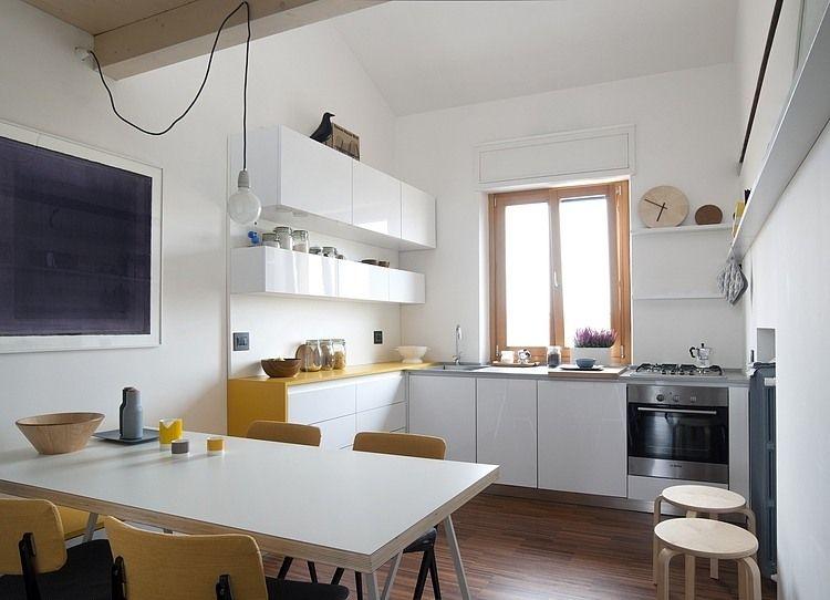 skandinavisches design f r einrichten und wohnen auf kleinstem raum k che living maisonette. Black Bedroom Furniture Sets. Home Design Ideas