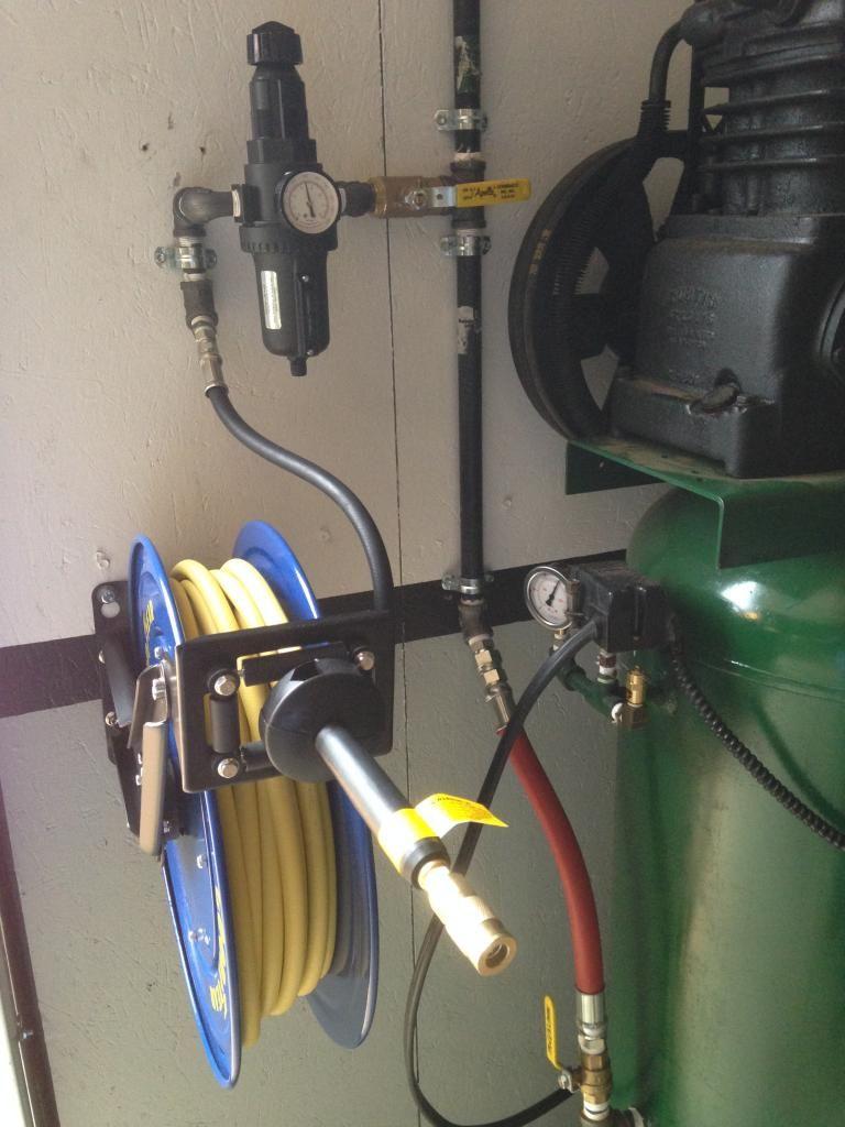 compressor plumbing air img designs garage