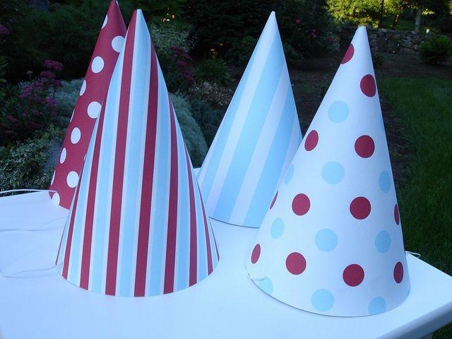 Polka & stripe party hats