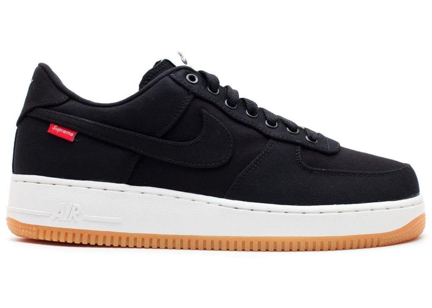 Nike Force 1 Low Supreme Black   Air force, Air force 1, Black