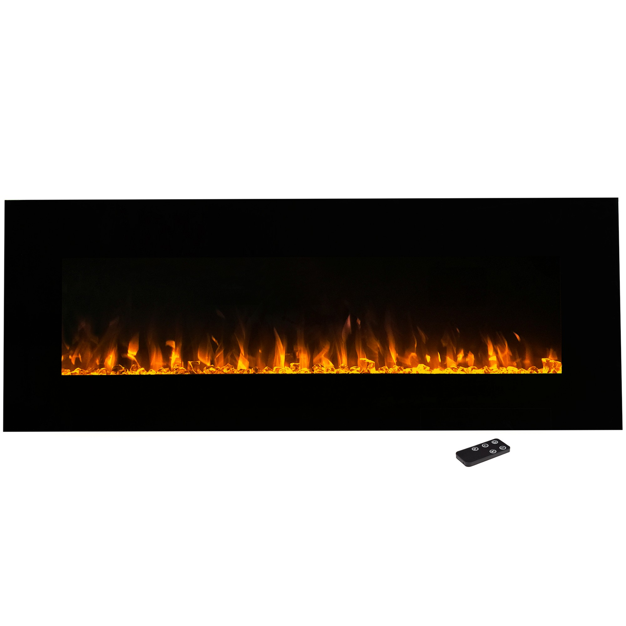 Electric Fireplace Wall Mounted Led Fire And Ice Flame With
