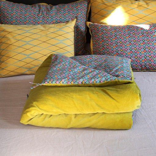 couvre pied lit les belles couleurs | Villa