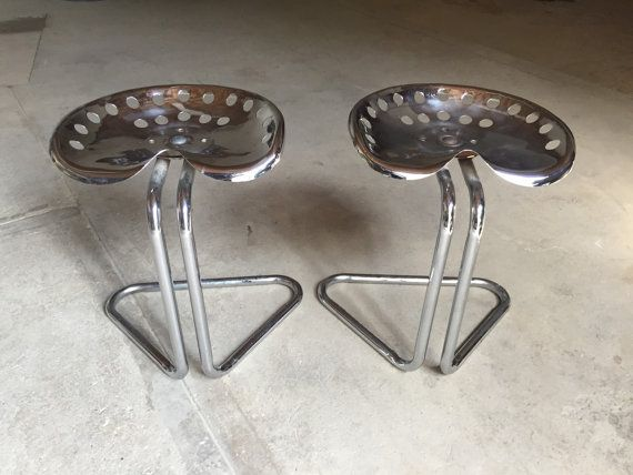 Tractor Seat Stools Chrome Set by seventysixtyfifty on Etsy