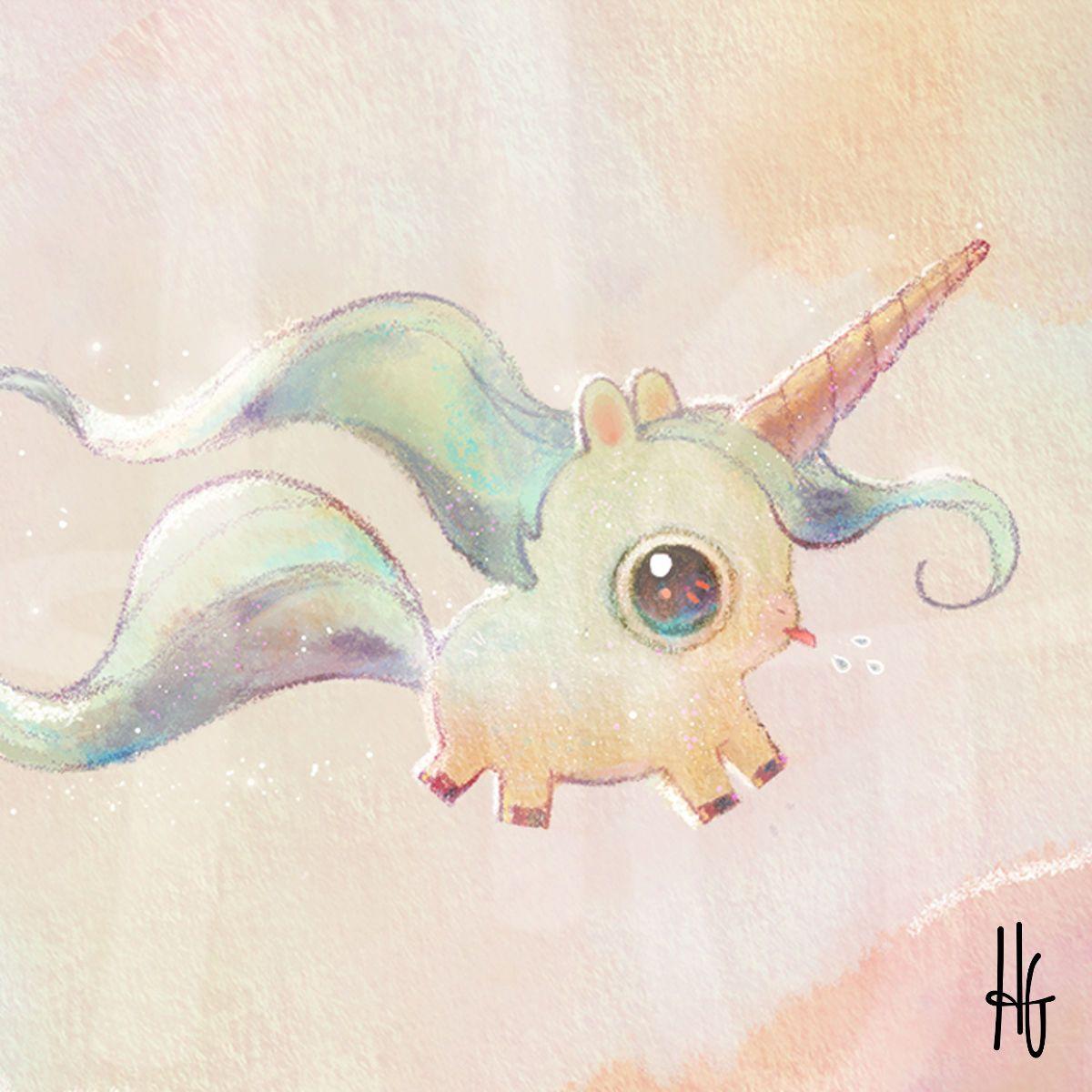 Tubs the Unicorn by HeatherSketcheroos Heather Gross