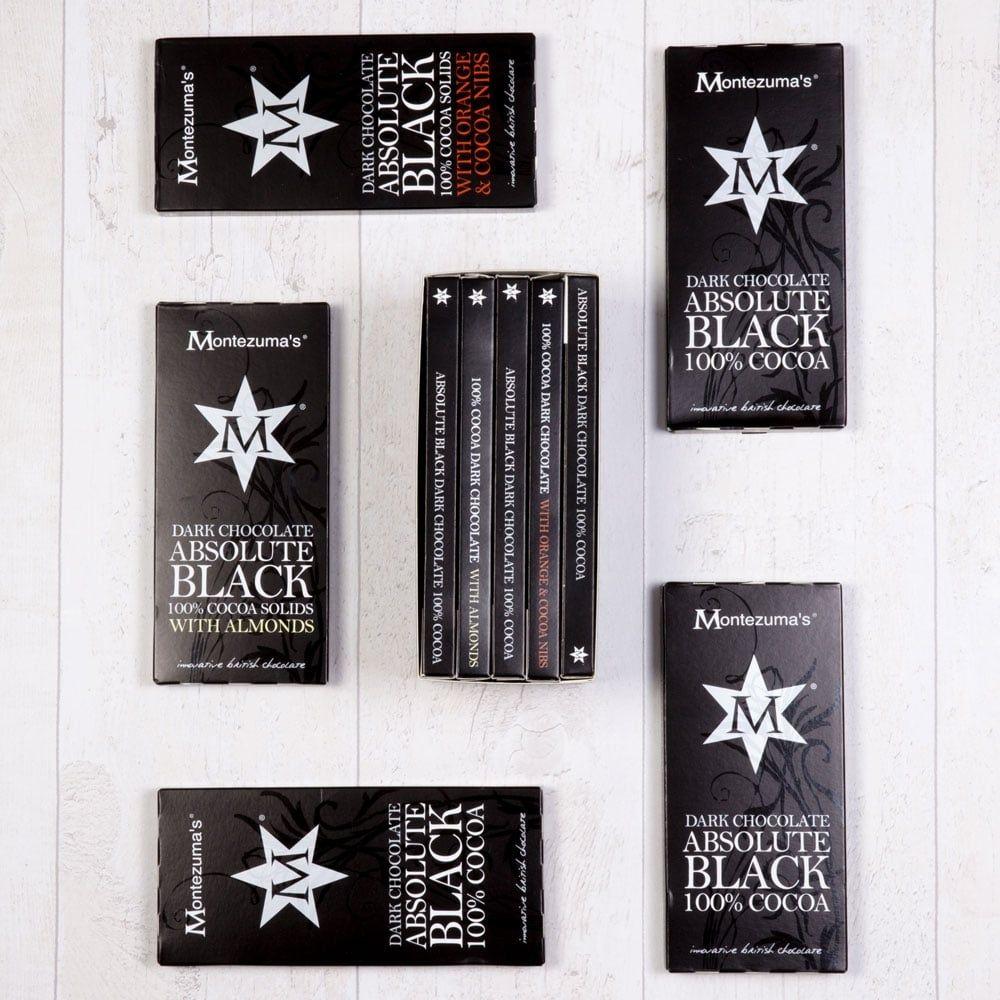 Absolute black bar library vegan chocolate gifts dark