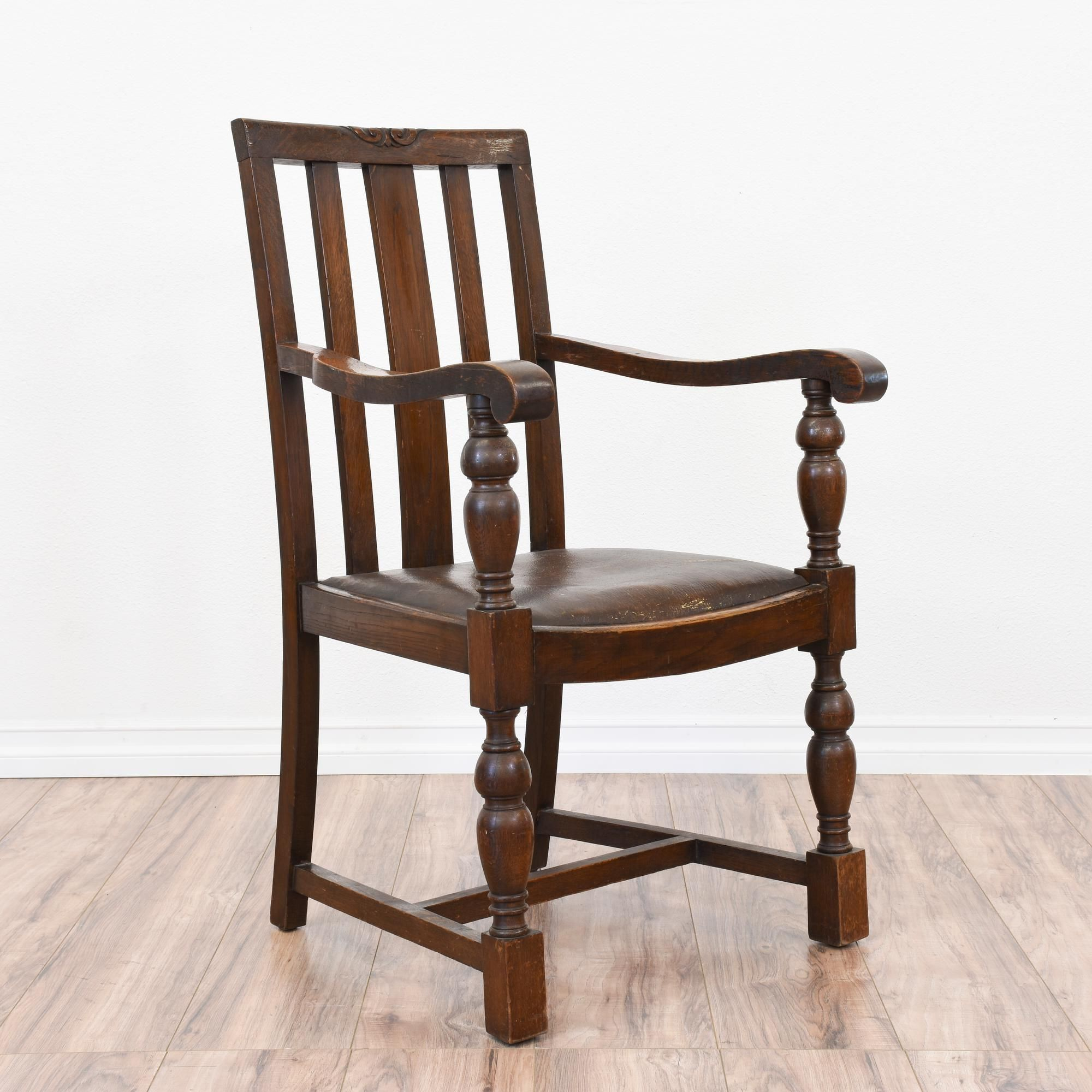 Rustic Antique Spanish Revival Chair