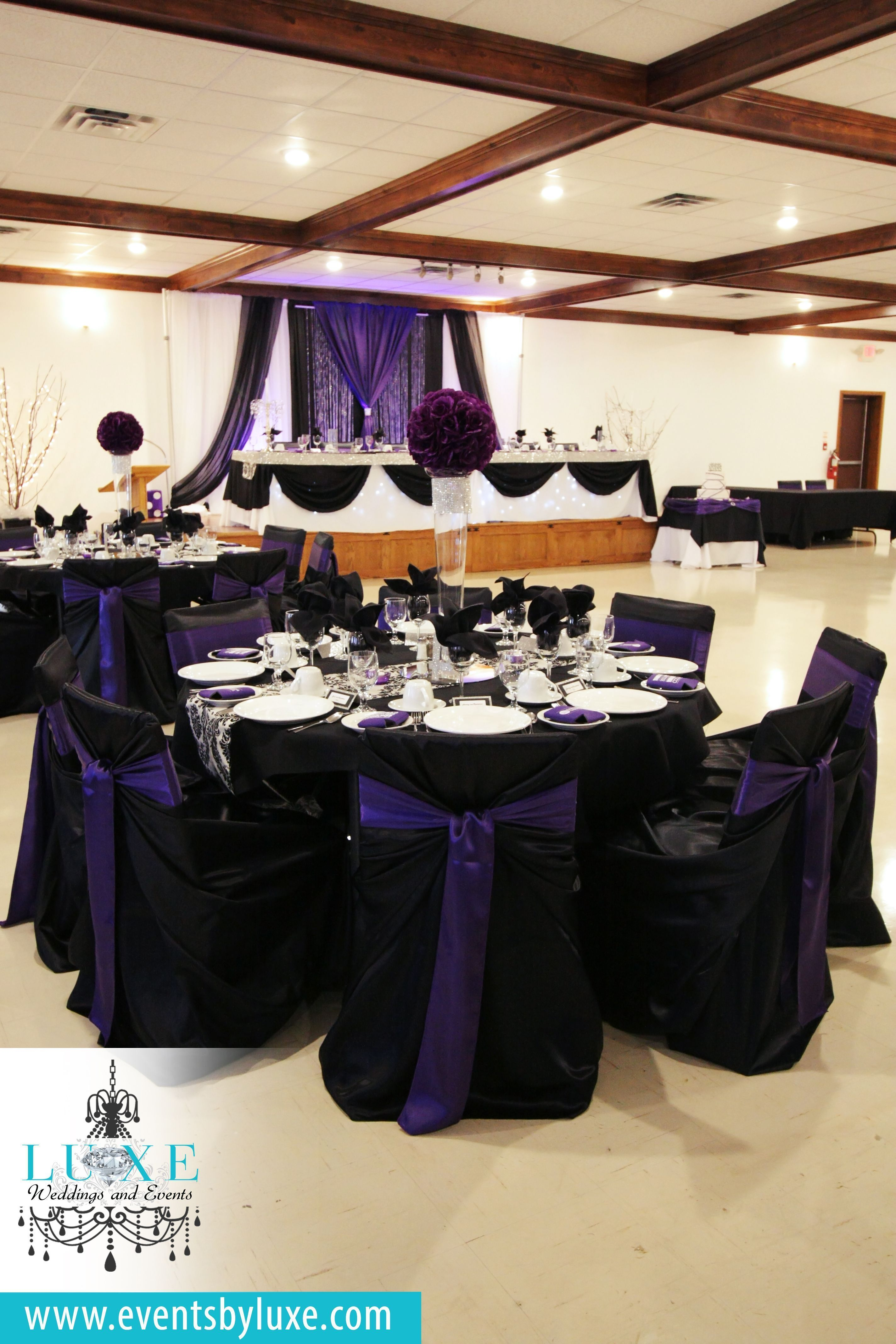 Black Purple And White Wedding Backdrop Modern Wedding Backdrop