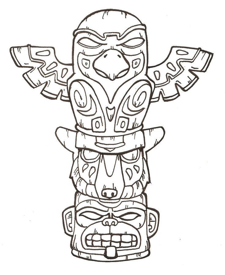 Totem Pole Designs Totem Pole 2 By Flashfek4 Cougars Pinterest