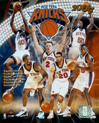 New York Knicks 2003 2004 Knicks Team Composite C Photofile New York Knicks Knicks Team Knicks
