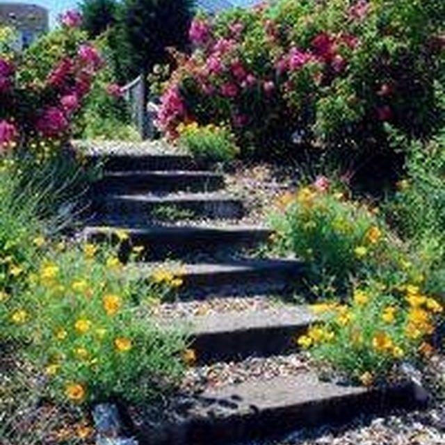 How to Make Steps in a Garden Slope   Landscaping   Sloped ...