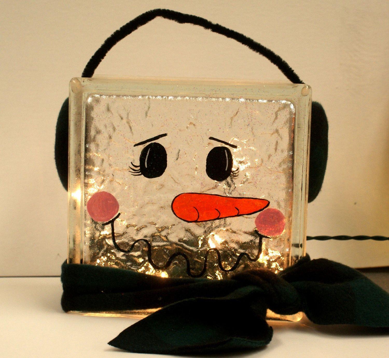 Glass cubes for crafts - En Iyi 17 G R Nt Glass Block Projects Pinterest Te Vinyls Balkabaklar Ve Noel