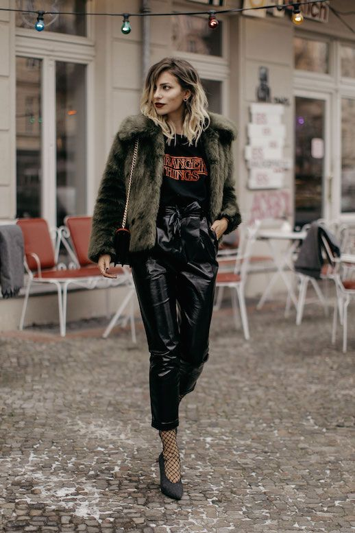 Get This Blogger's Cool Vinyl-Clad Look