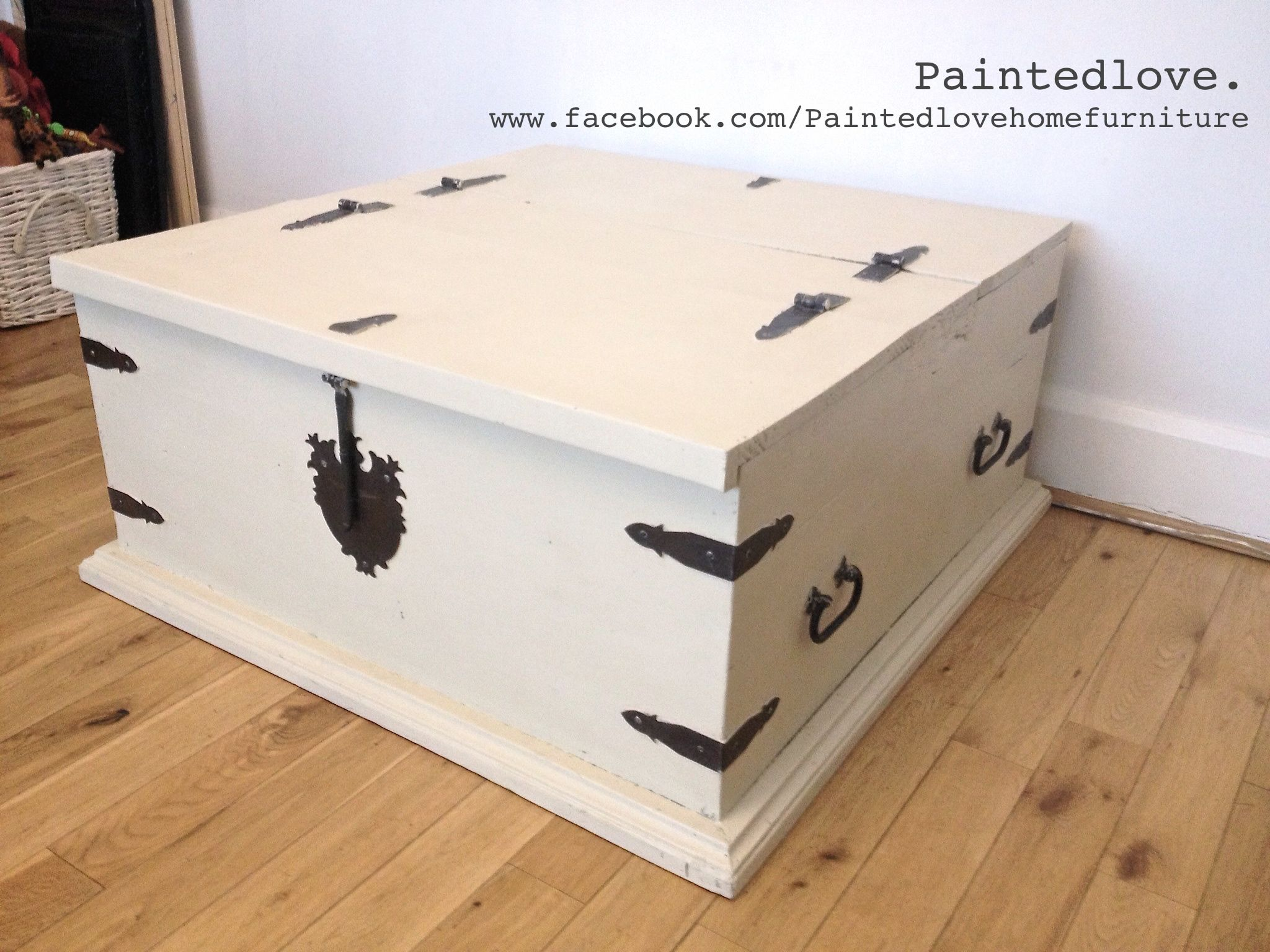 - Large Storage Chest/trunk/coffee Table Painted In Annie Sloan