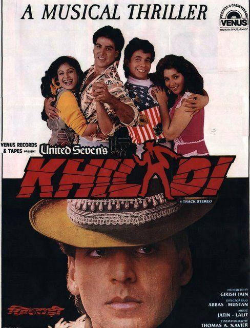 Ak Tha Khiladi Moovi Hindi: Bollywood Posters From 1990's