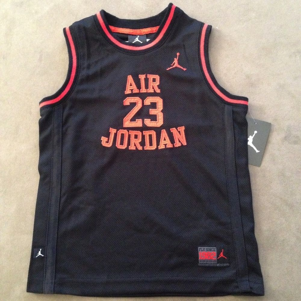 new product 02bd4 3f8d9 Boys Michael Jordan Jumpman Air Jordan Jersey #23 Black Red ...