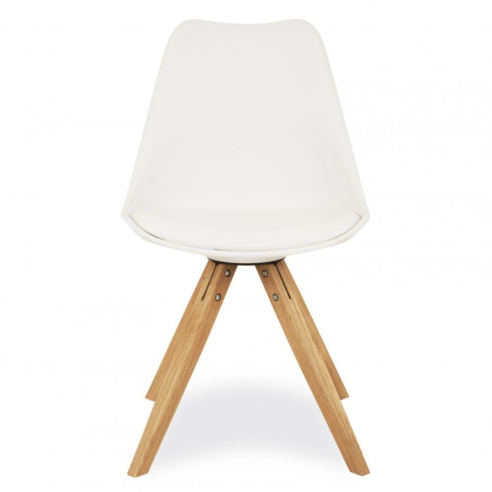 Strange Charles Eames Style White Dining Chair With Pyramid Style Onthecornerstone Fun Painted Chair Ideas Images Onthecornerstoneorg