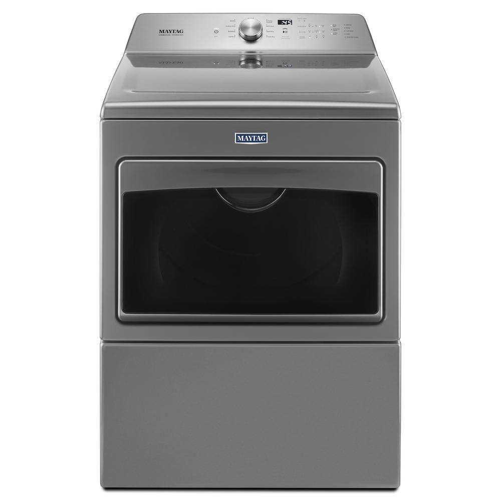 Maytag 7 4 Cu Ft 120 Volt Metallic Slate Gas Dryer With Intellidry Sensor Gas Dryer Washer Washer Dryer