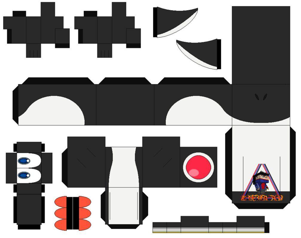 Yoshi black - cubeecraft / papercraft by MarcoKobashigawa   mario ...