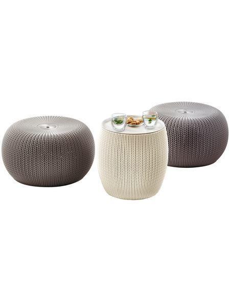 3-tlg Gartenmöbelset »Cozy Urban«, 2 Sitzpuffs,Tisch Ø 40,6 cm - gartenmobel kunststoff design